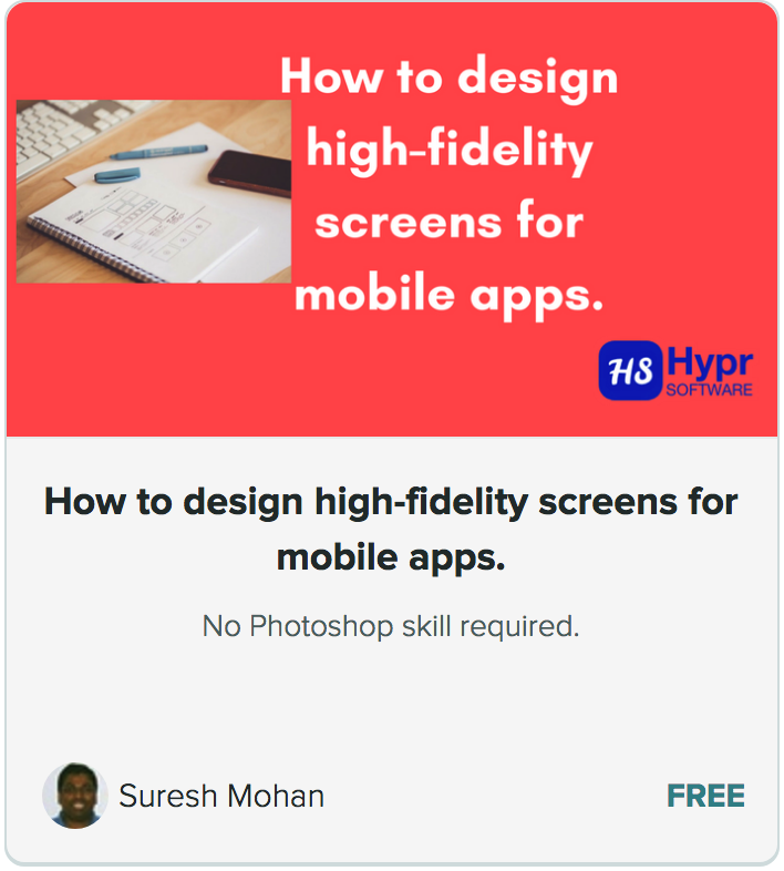 Mobile Design course screencap
